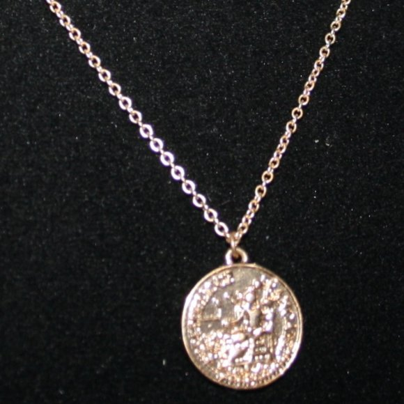 Vintagejelyfish Jewelry - Vintage style gold coin necklace adjust.